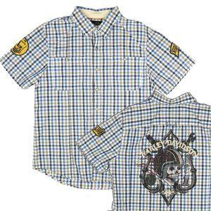 Harley Davidson XL Short Sleeve Pearl Snap Shirt
